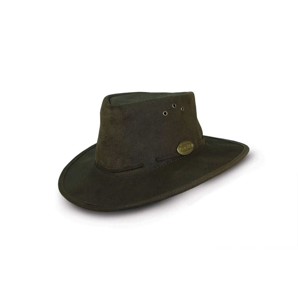 Rogue Oiled Suede Packaway Safari / Cowboy Hat 171C-Equestrian Co.