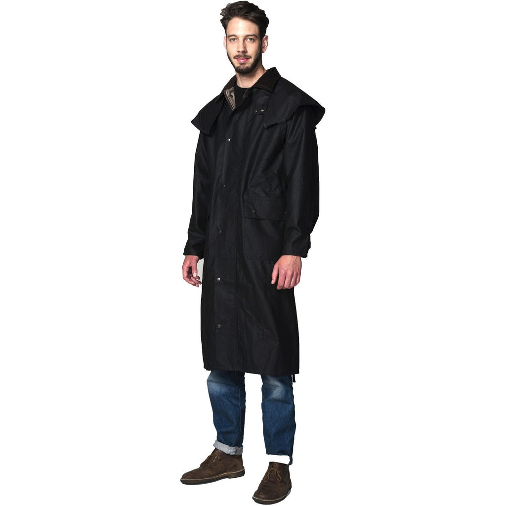 Hunter Outdoor British Lifestyle Outback Classic Long Unisex Wax Coat-Equestrian Co.