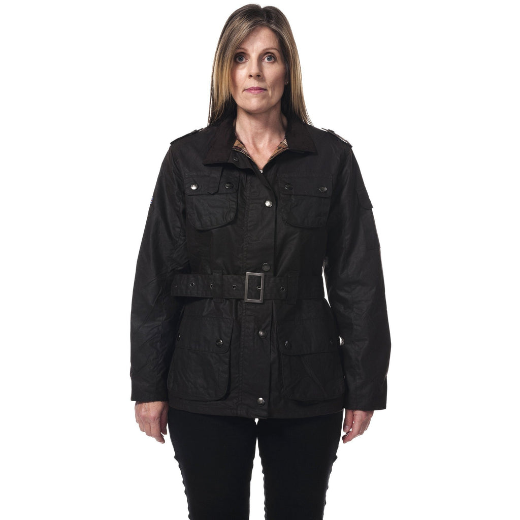 Hunter Outdoor Nevada Ladies' Belted Wax Jacket-Equestrian Co.