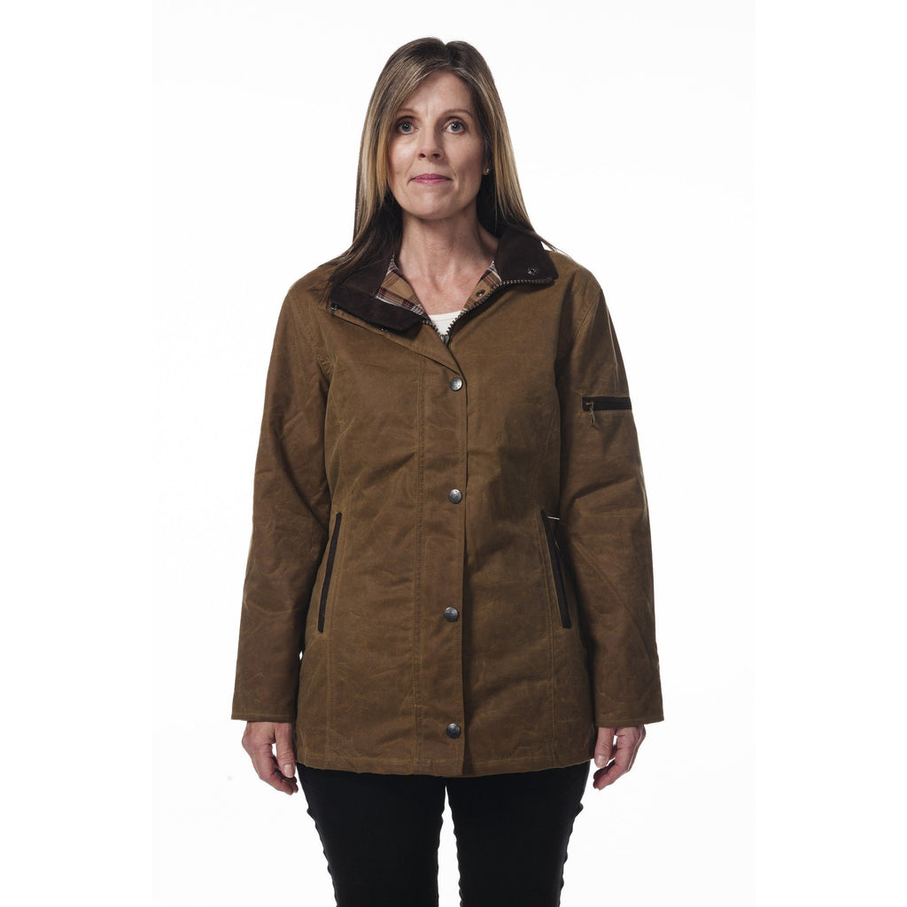 Hunter Outdoor Heritage Deluxe Women's Wax Jacket (Free Tin of Wax)-Equestrian Co.
