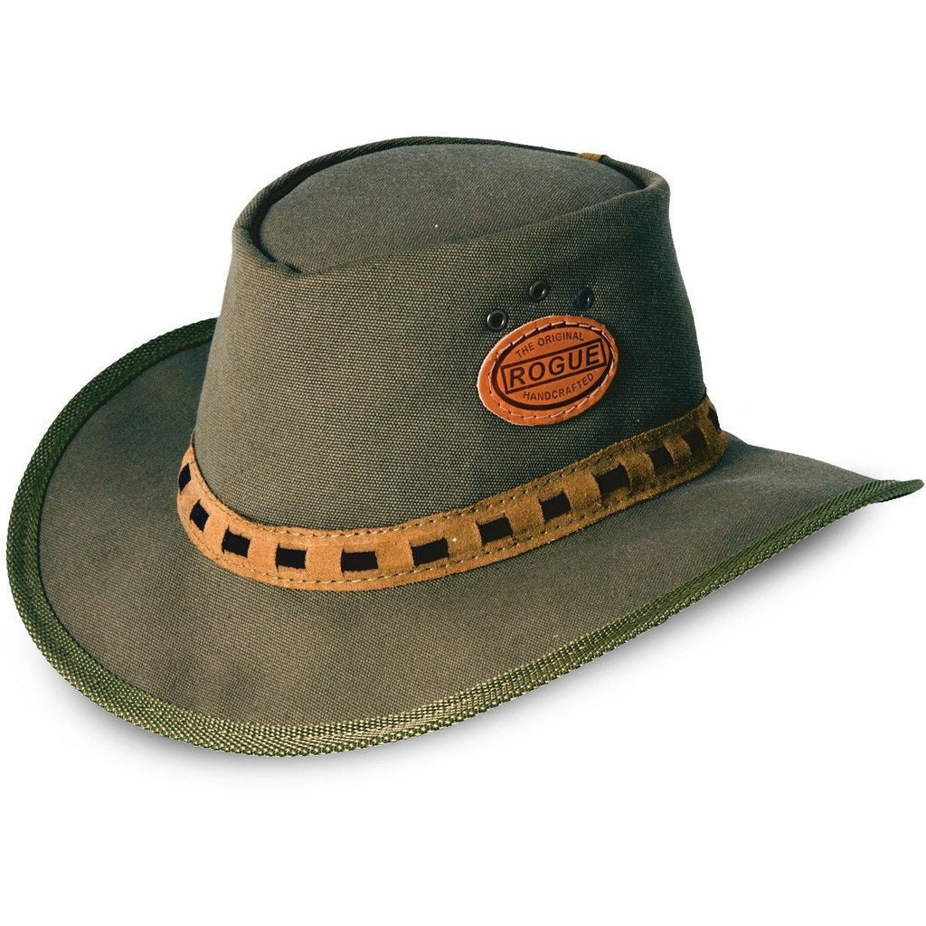 Rogue Canvas Safari / Cowboy Hat in Olive 306L-Equestrian Co.