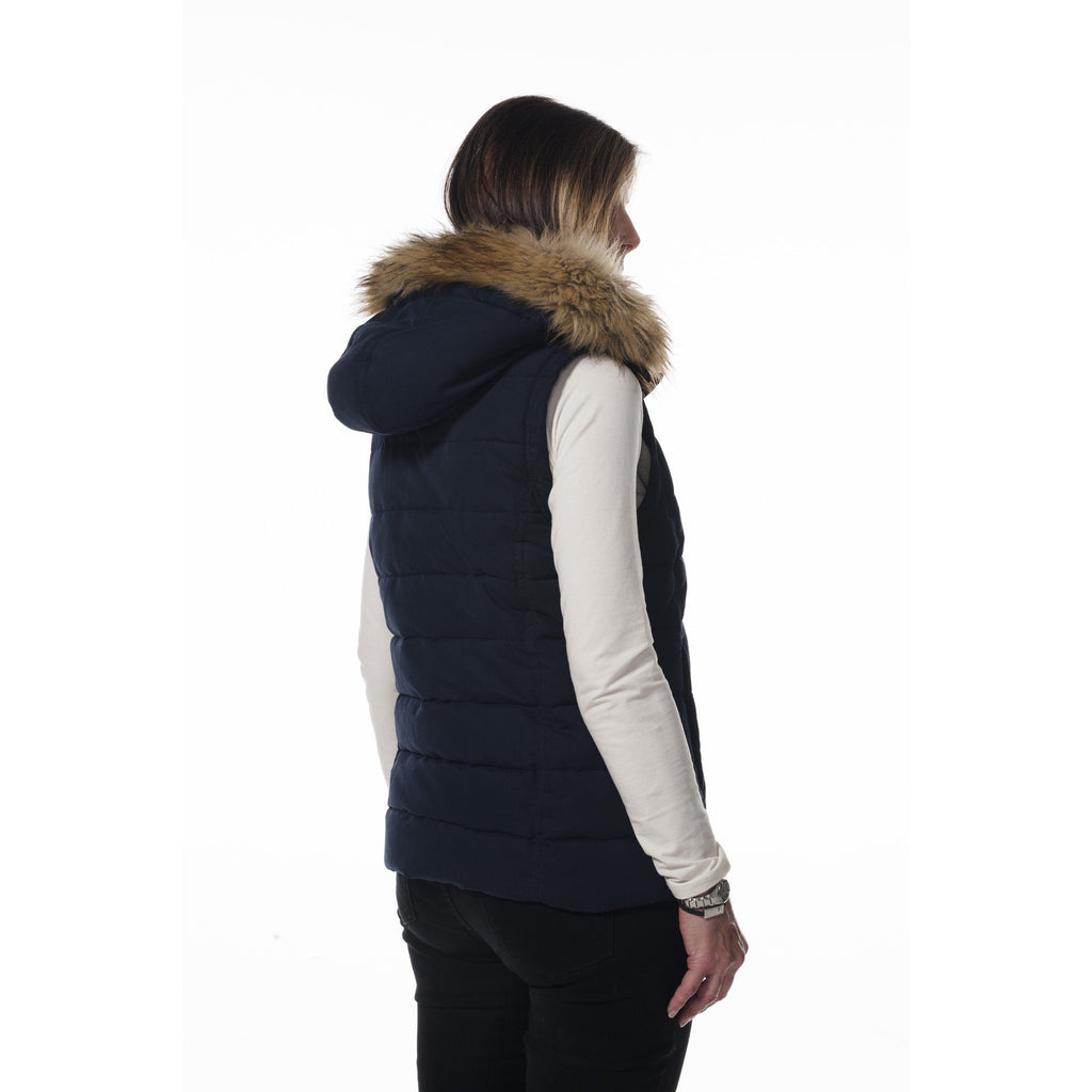 Hunter Outdoor Fur Trim Ladies' Navy Waistcoat / Gilet-Equestrian Co.