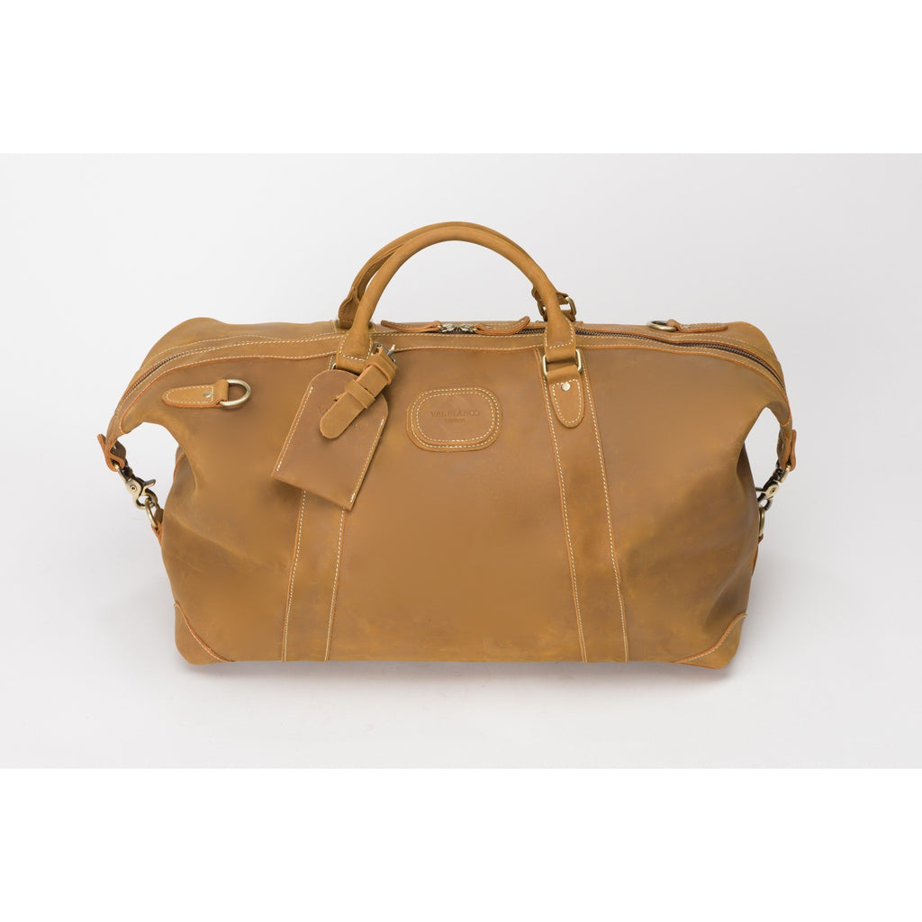 Val Blanco Luxurious Calfskin Leather Holdall / Weekend / Overnight Bag