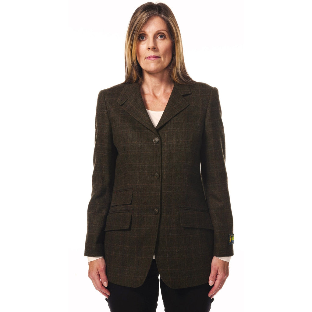 Hunter Outdoor Fern Ladies' Tailored Wool Tweed Blazer - Equestrian Co. - 2