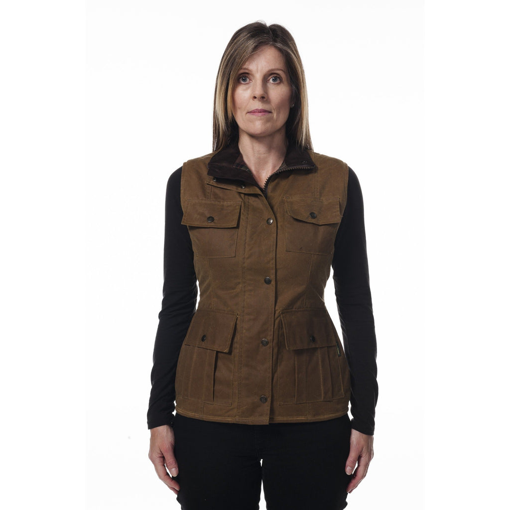 Hunter Outdoor Aviemore Ladies' Waxed Cotton Gilet / Waistcot / Vest-Equestrian Co.