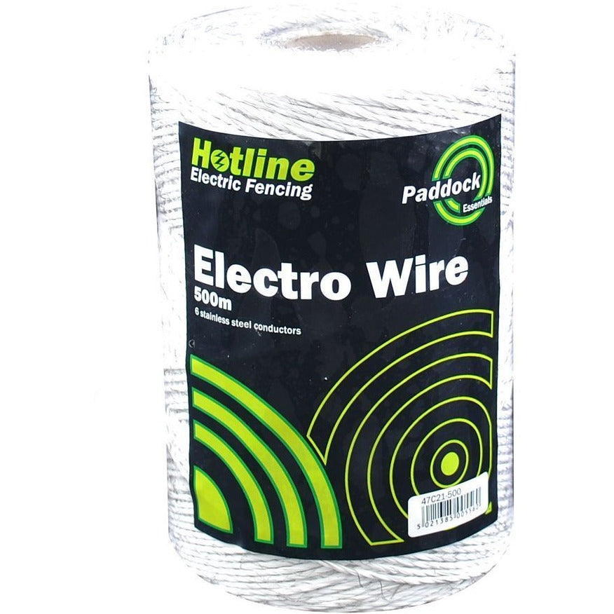 Hotline White Electric Fence Paddock Poly-Wire