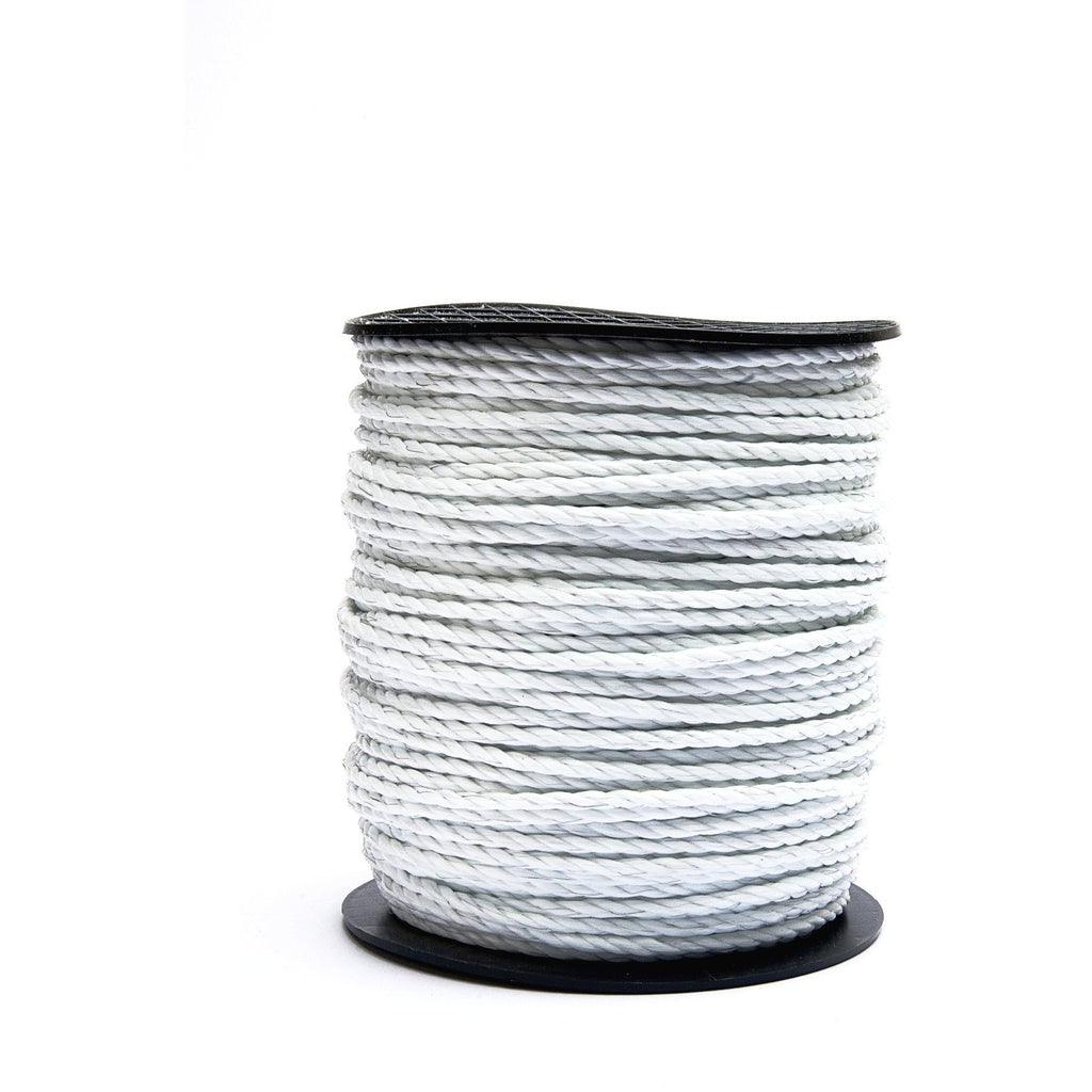 Hotline White 6mm Paddock Electric Fence Rope-Equestrian Co.