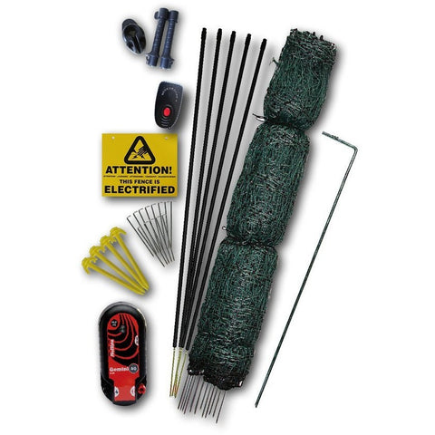 Hotline Electric Fence 16m Net Kit for Poultry / Chicken with Gate - Equestrian Co.