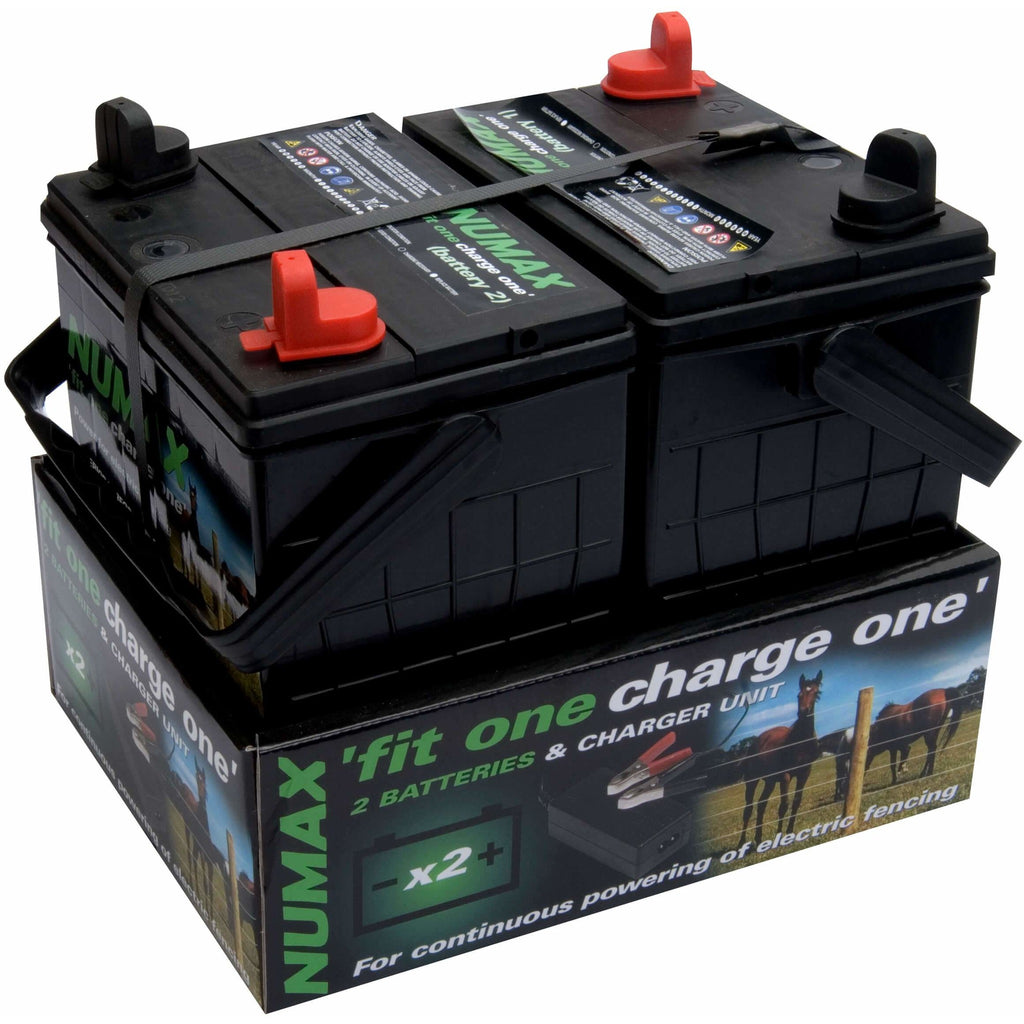 Numax F1C1 Twin 12v Batteries and a Charger - Fit One - Charge One