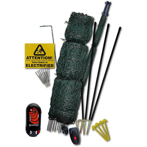 Hotline Electric Fence 50m Net Kit for Poultry / Chicken with Gate - Equestrian Co.