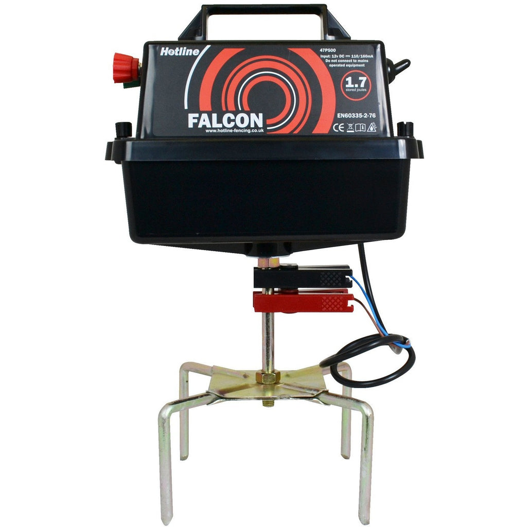 Hotline HLB500 Falcon 1.7j 12 Volt Electric Fence Energiser - Battery Input - Equestrian Co.