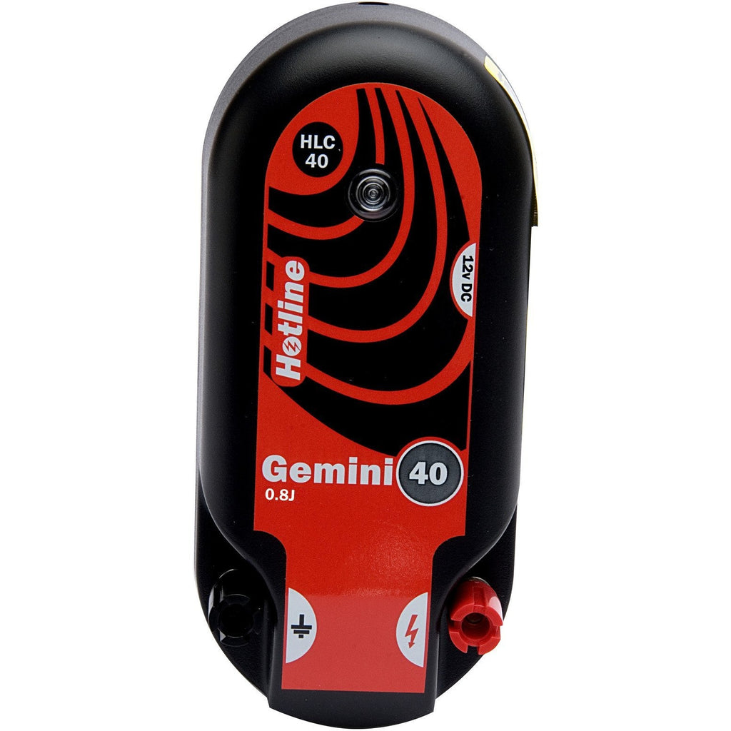 Hotline HLC40 Gemini 40 0.8J Combi Electric Fence Energiser - Mains or Battery Input - Equestrian Co.