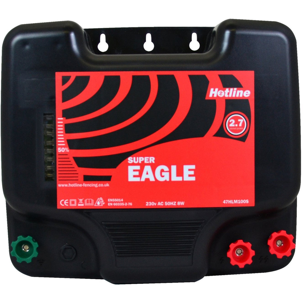 Hotline HLM100S Super Eagle 2.8j 230v Electric Fence Energiser - Mains Input-Equestrian Co.