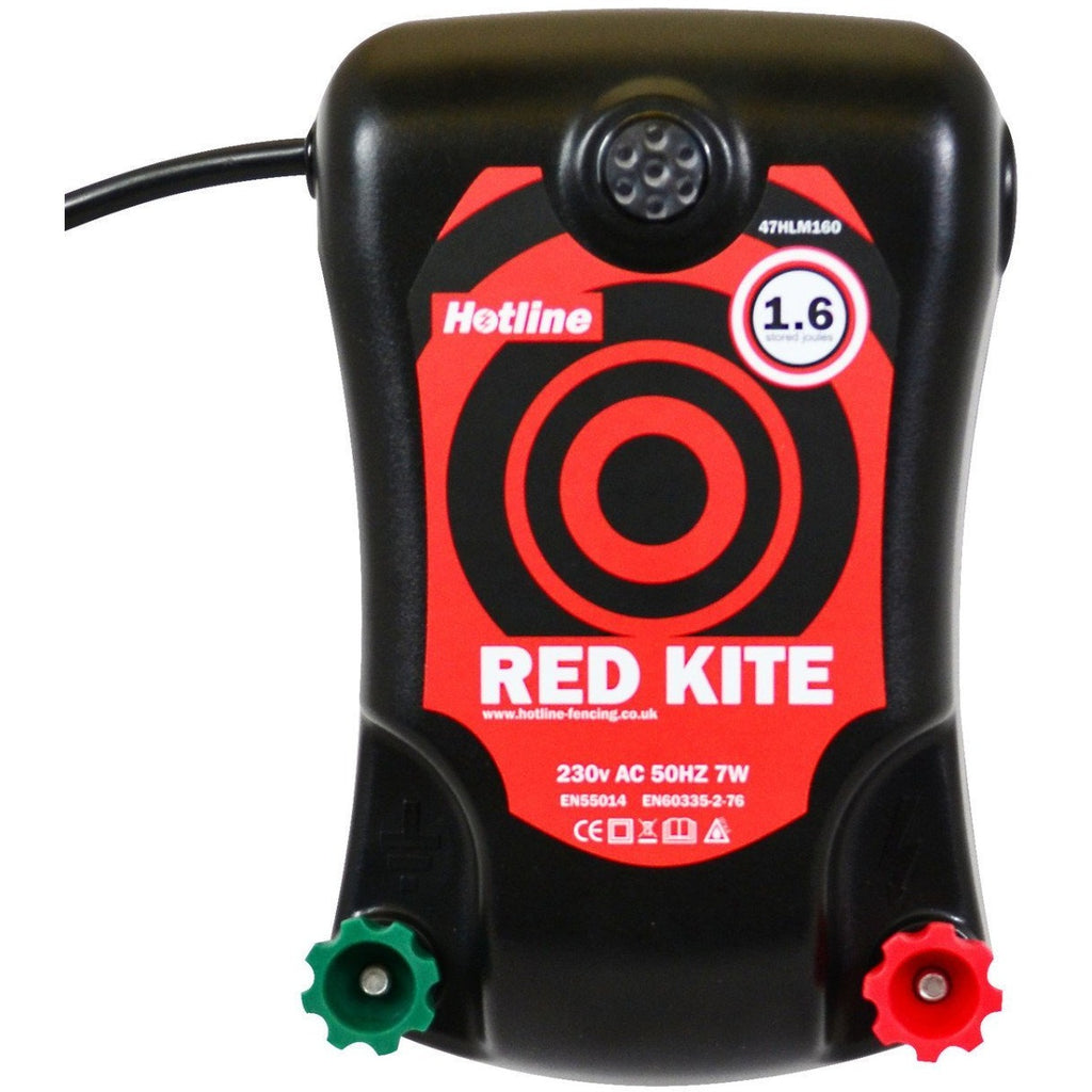 Hotline HLM160 Red Kite 1.6J Single Output Electric Fence Energiser - Mains Input - Equestrian Co.