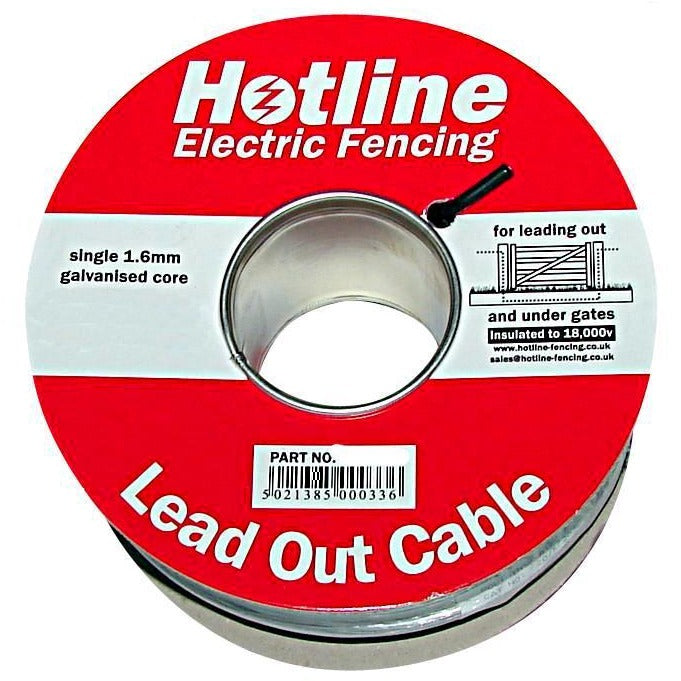 Hotline Insulated 1.6mm Steel Lead Out Cable / Under-Gate Cable / Underground Cable - Equestrian Co.