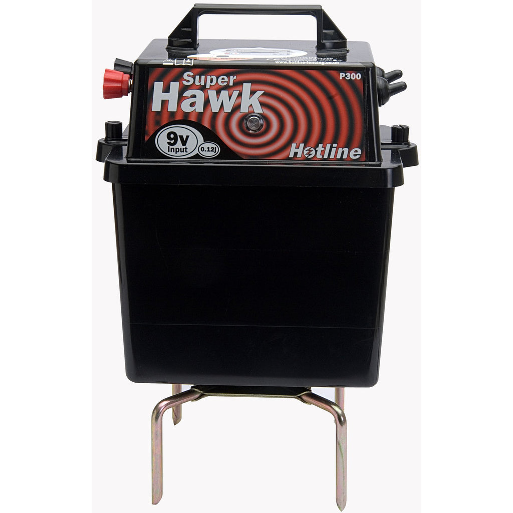 Hotline HLB300 Super Hawk 9/12v Electric Fence Energiser / Fencer-Equestrian Co.