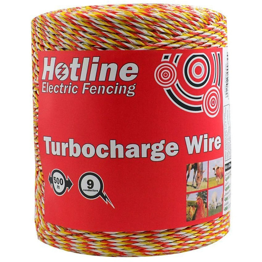 Hotline P62 Turbocharge Electric Fence Wire - 9 Strand