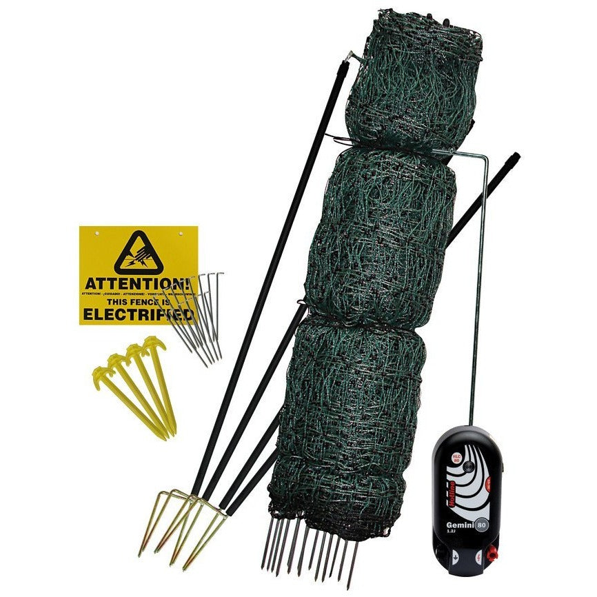 Hotline Deluxe 25m Electric Poultry Netting Kit & Gate System
