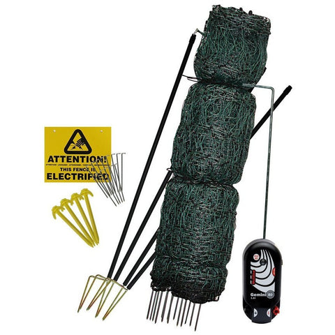Hotline Electric Fence 25m Net Kit for Poultry / Chicken with Gate - Equestrian Co.