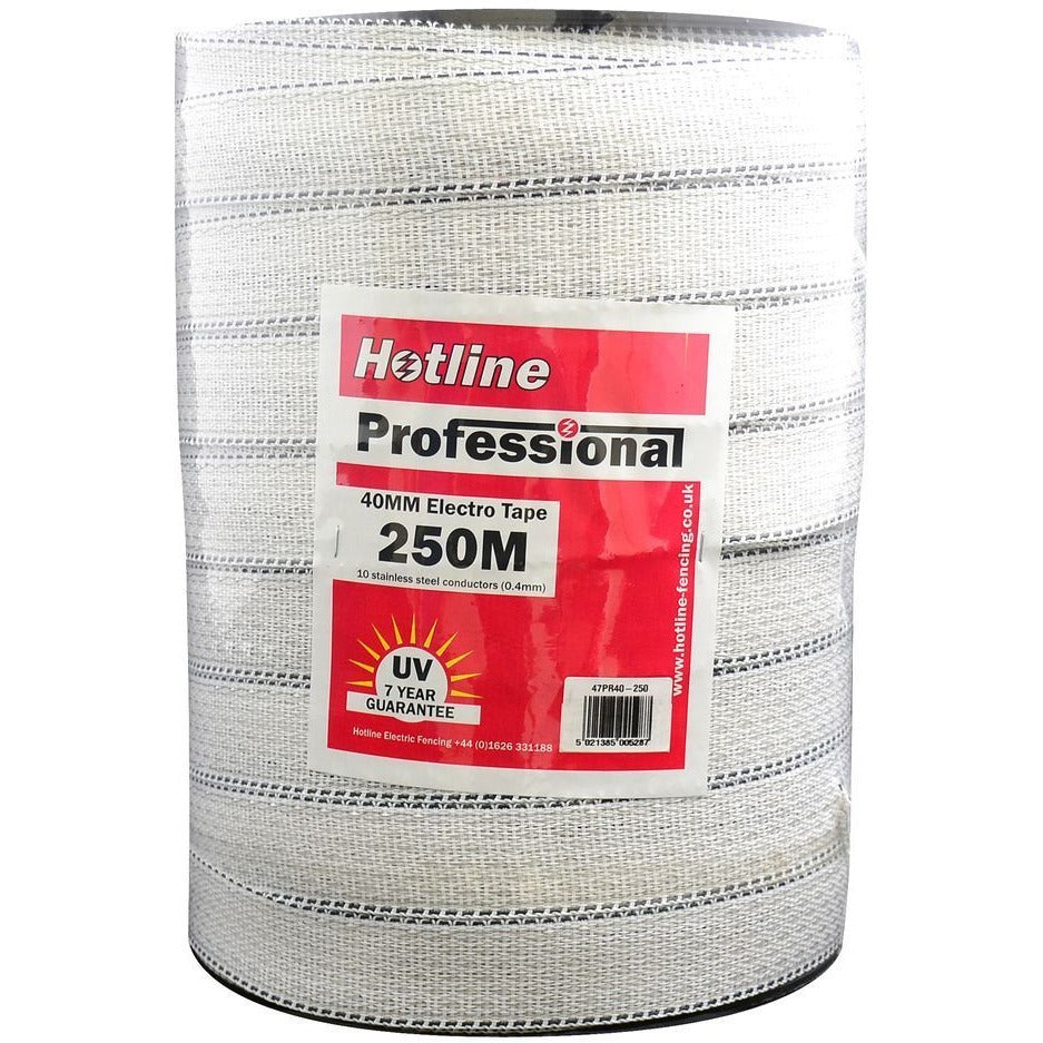 Hotline Heavy Duty Professional 40 mm Electric Fence Tape-Equestrian Co.