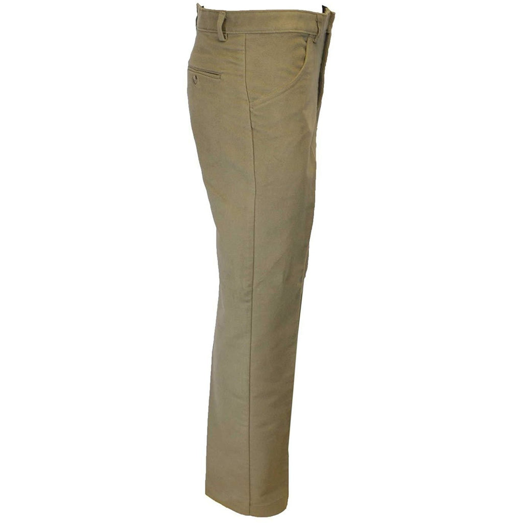 Walker & Hawkes Men's Classic Beige Moleskin Trousers-Equestrian Co.