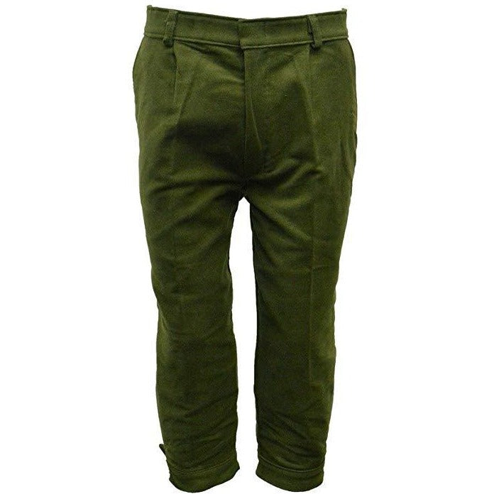 Walker & Hawkes Men's Moleskin Olive Shooting Breeks / Plus Fours