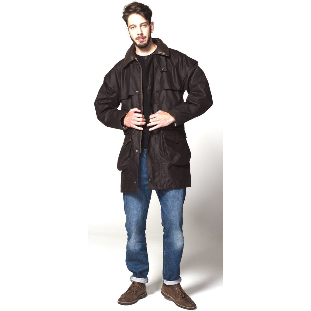 Hunter Outdoor Cumbrian Waxed Cotton Unisex Jacket (Free Tin of Wax Proofing) - Equestrian Co. - 2