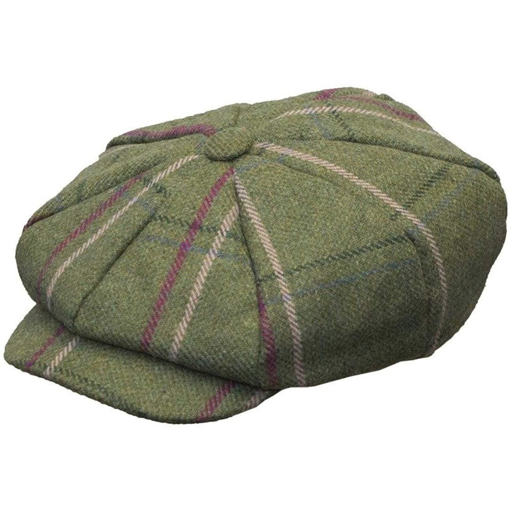 Walker & Hawkes Ladies' Pink Stripe Bakerboy Tweed Country Cap / Hat