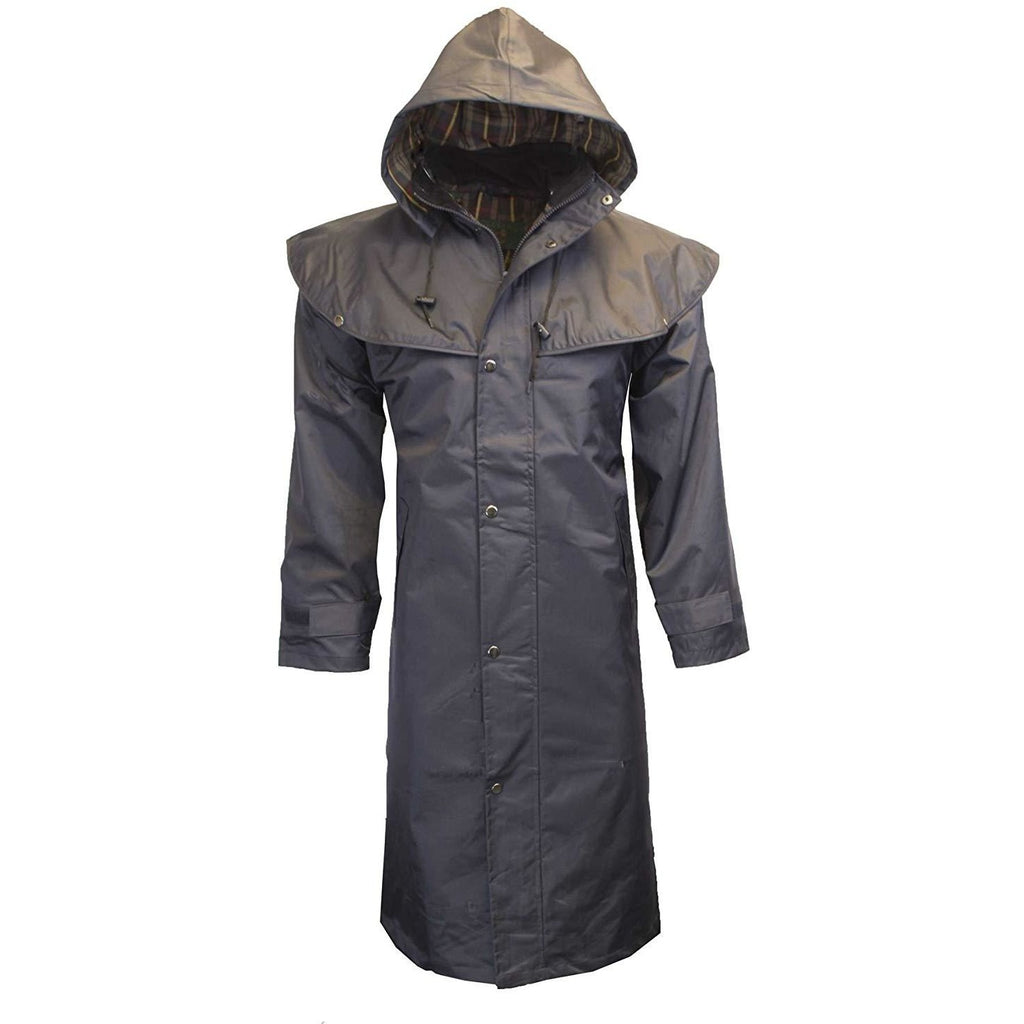 Walker & Hawkes Unisex Midland Waterproof Navy Rain Coat