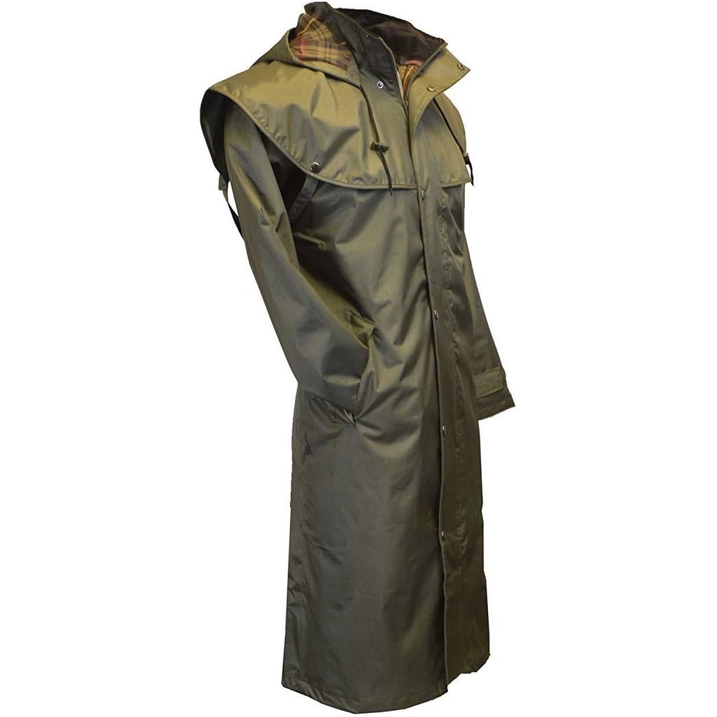 Walker & Hawkes Unisex Midland Waterproof Olive Rain Coat-Equestrian Co.