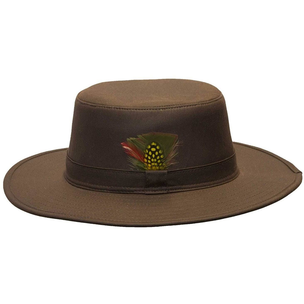Walker & Hawkes Unisex Brown Wax Outback Aussie Wide Brim Hat