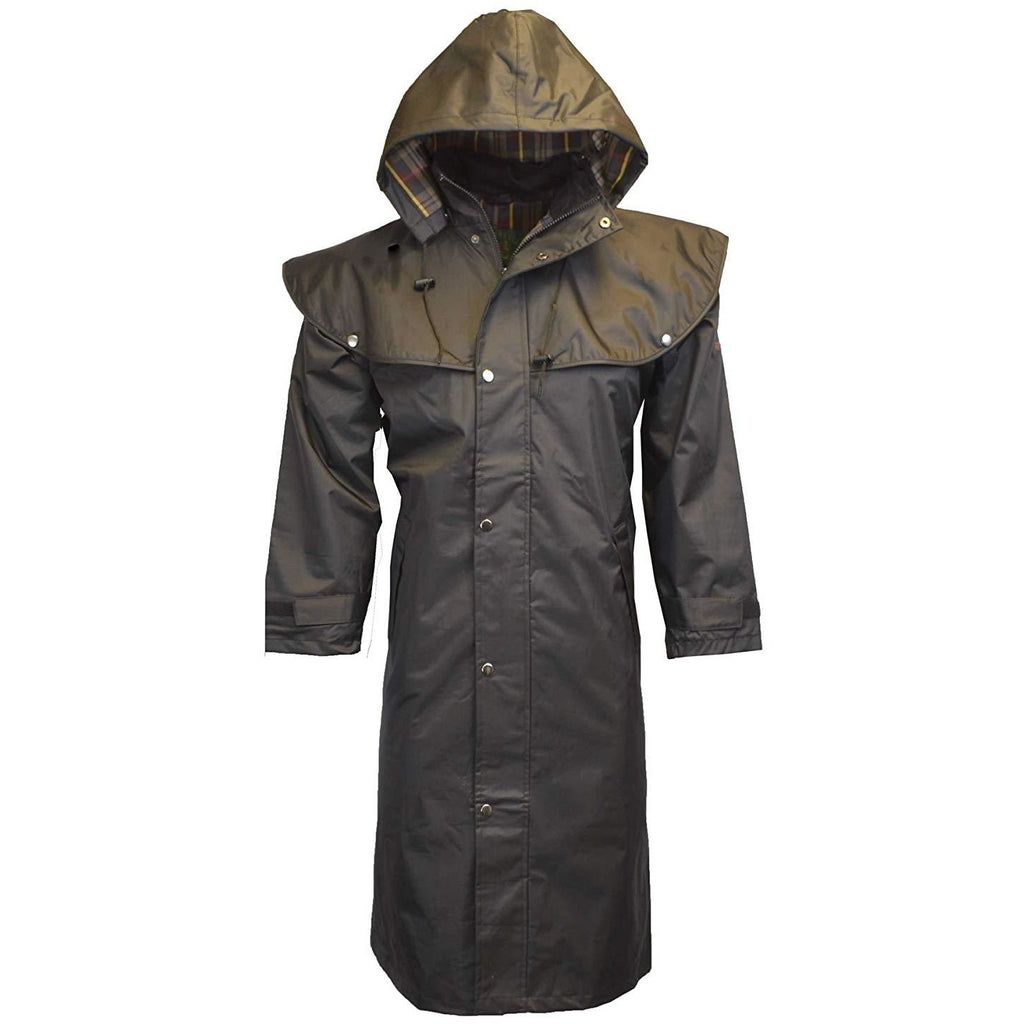 Walker & Hawkes Unisex Midland Waterproof Black Rain Coat-Equestrian Co.