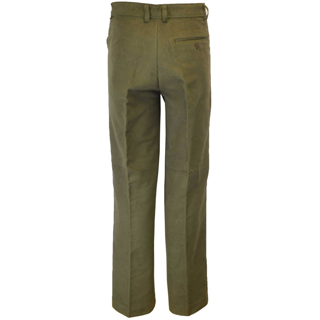 Walker & Hawkes Men's Classic Olive Moleskin Trousers-Equestrian Co.
