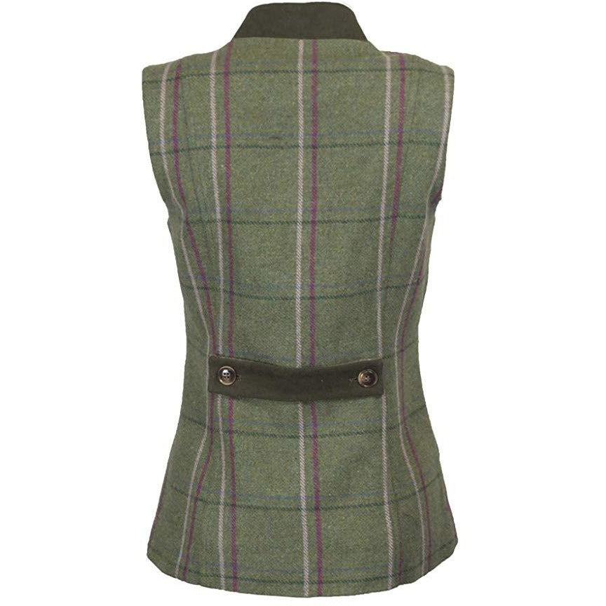 Walker & Hawkes Ladies' Pink Stripe Margate Tweed Gilet / Waistcoat-Equestrian Co.