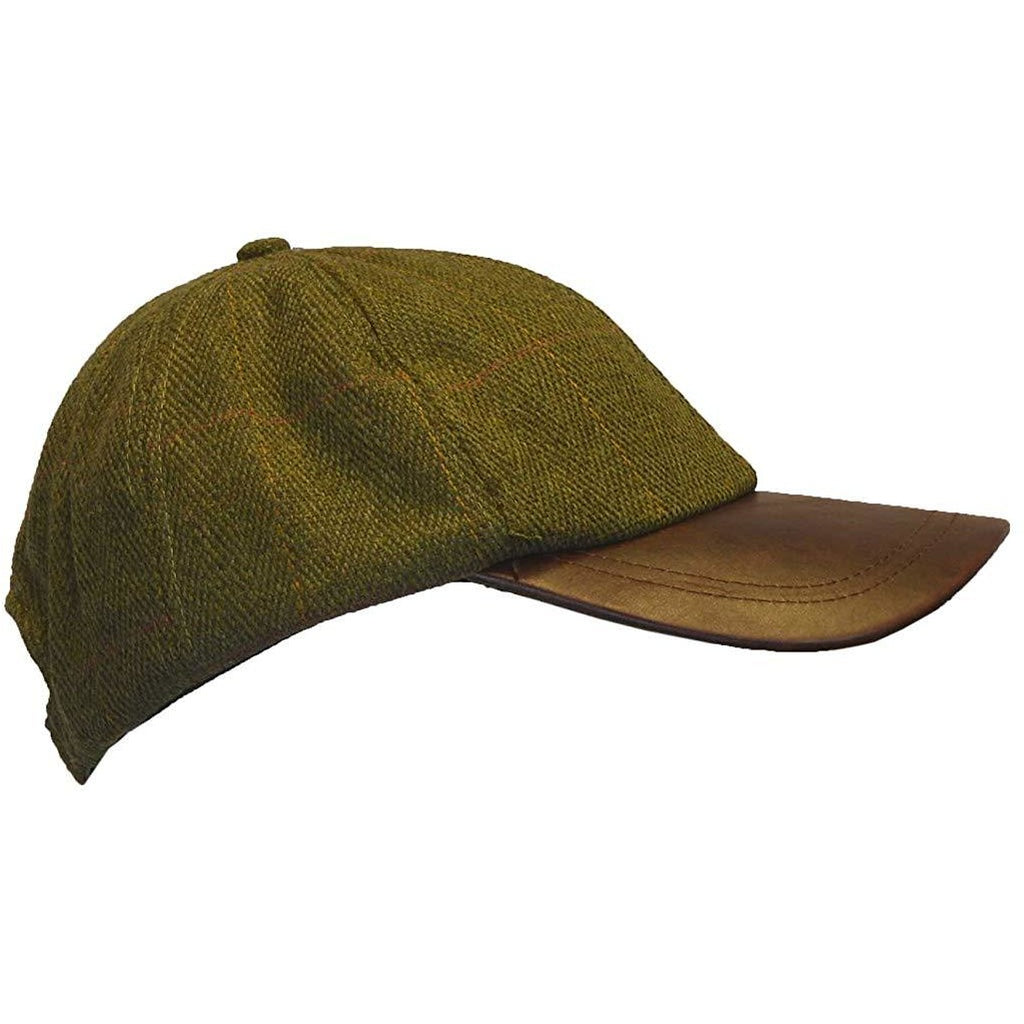 Walker & Hawkes Children's Country Dark Sage Tweed Baseball Cap-Equestrian Co.