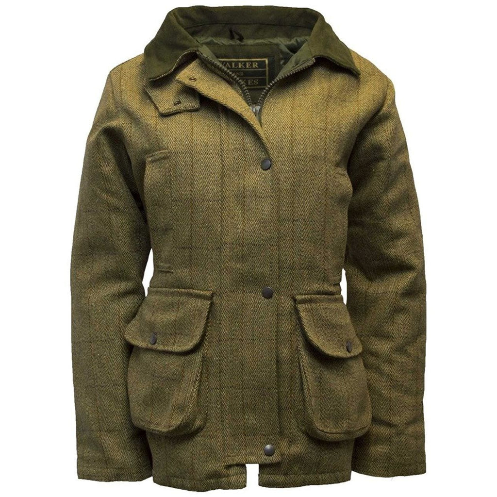 Walker & Hawkes Ladies' Light Sage Tweed Shooting Coat