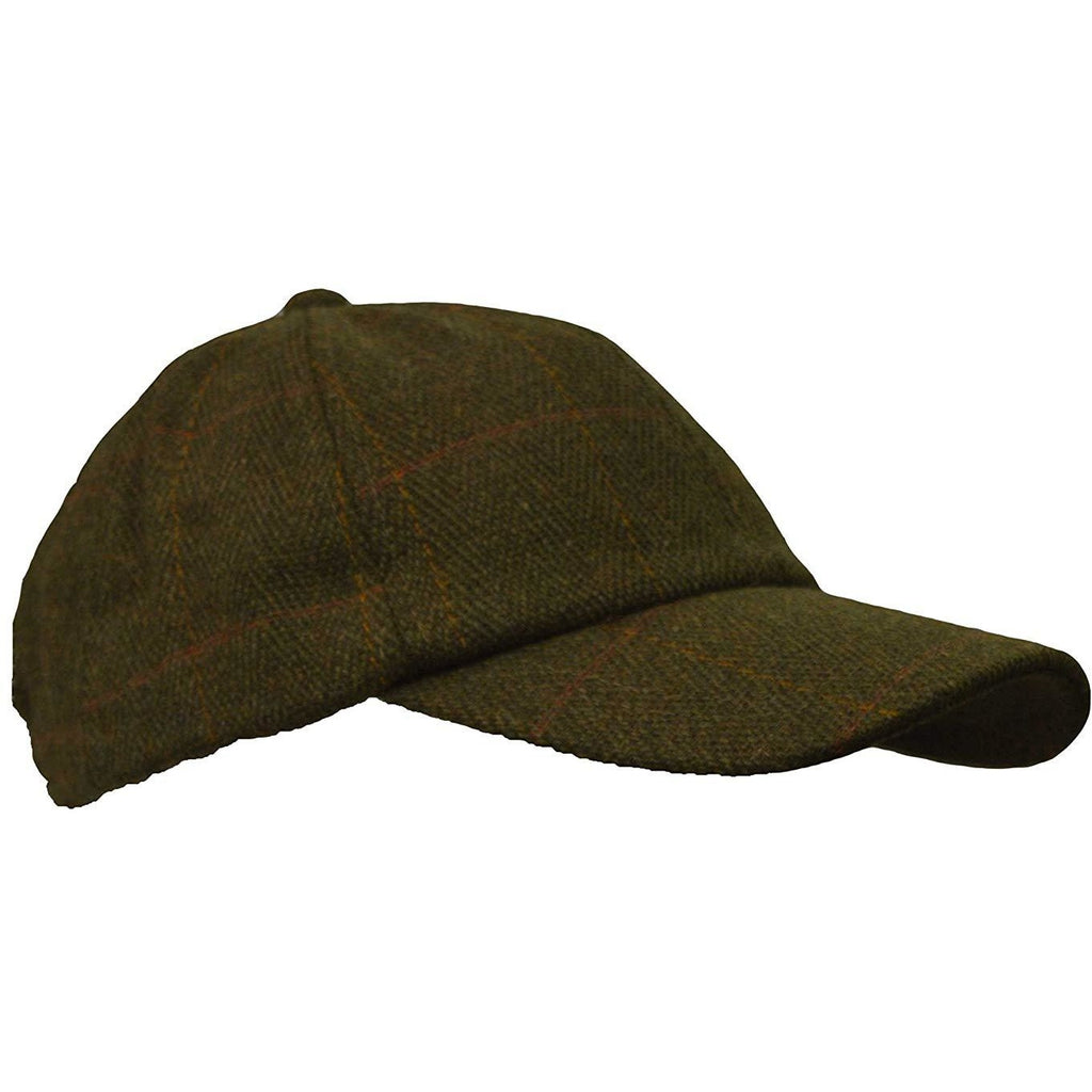 Walker & Hawkes Unisex Dark Sage Classic Derby Tweed Baseball Cap-Equestrian Co.