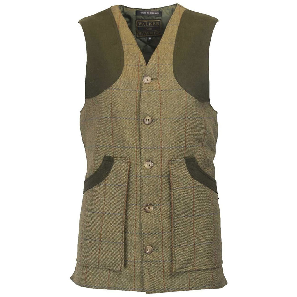 Walker & Hawkes Men's Winston Shooting Tweed Gilet/Waistcoat/Vest-Equestrian Co.