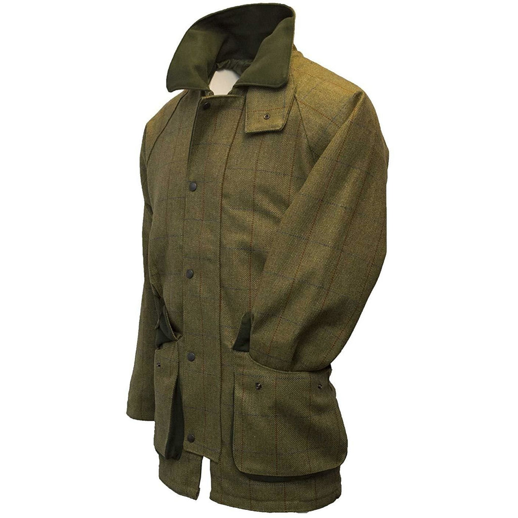 Walker & Hawkes Men's Forest Green Tweed Shooting Coat / Jacket