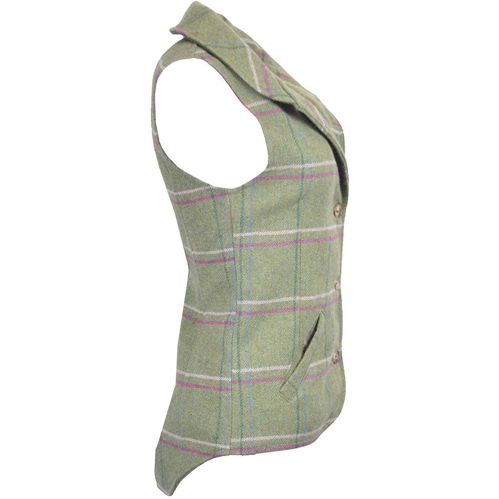 Walker & Hawkes Ladies' Pink Stripe Ashby Tweed Waistcoat / Gilet-Equestrian Co.