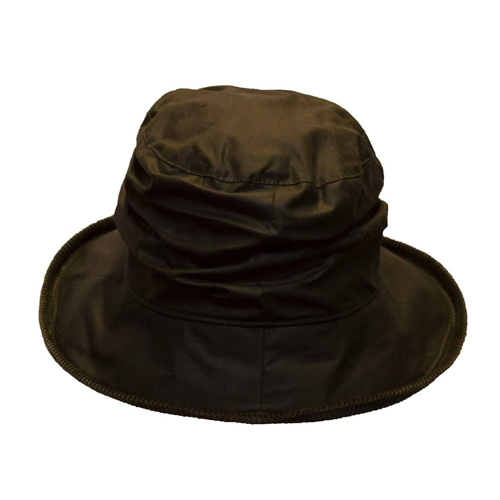 Walker & Hawkes Ladies' Olive Diana Wax Waterproof Hat