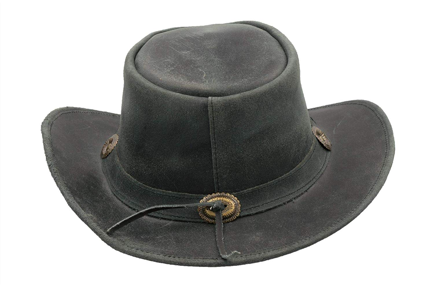 Leather Cowhide Outback Antique Hat Walker and Hawkes