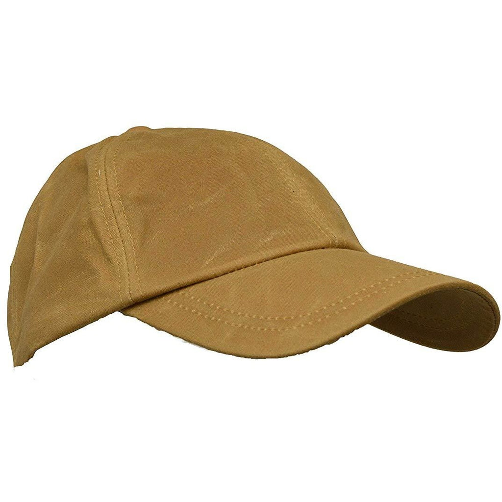 Walker & Hawkes Unisex Waterproof Beige Waxed Cotton Baseball Cap-Equestrian Co.