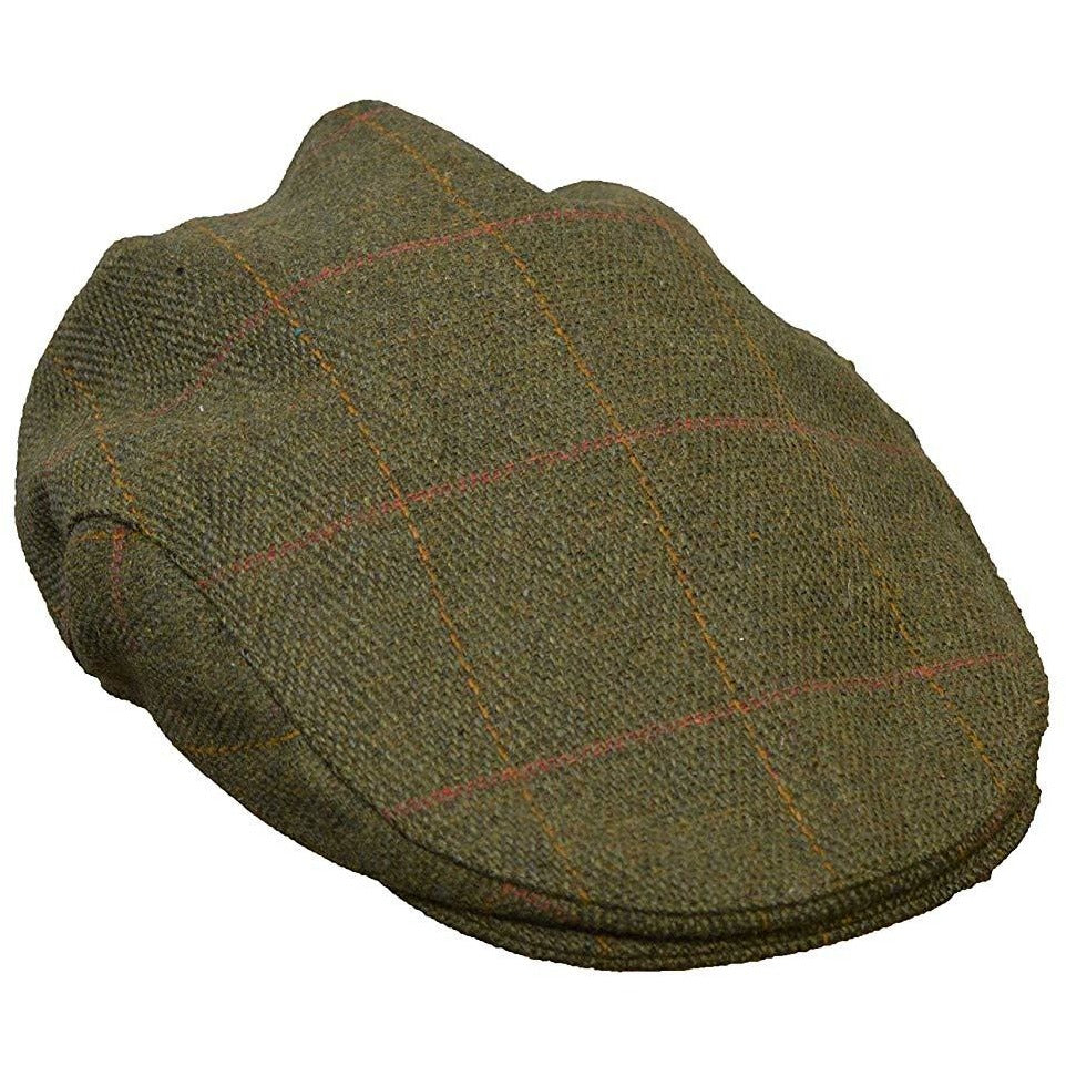 Walker & Hawkes Children's Shooting Dark Sage Tweed Flat Cap