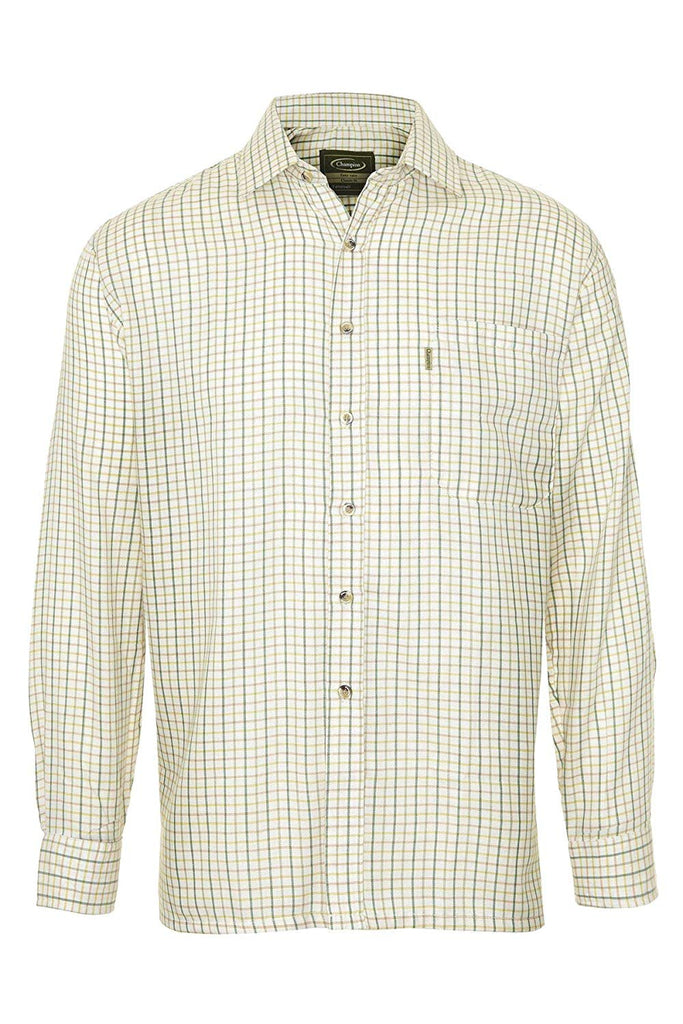 Champion Men's Green Easy Care Country Check Shirt