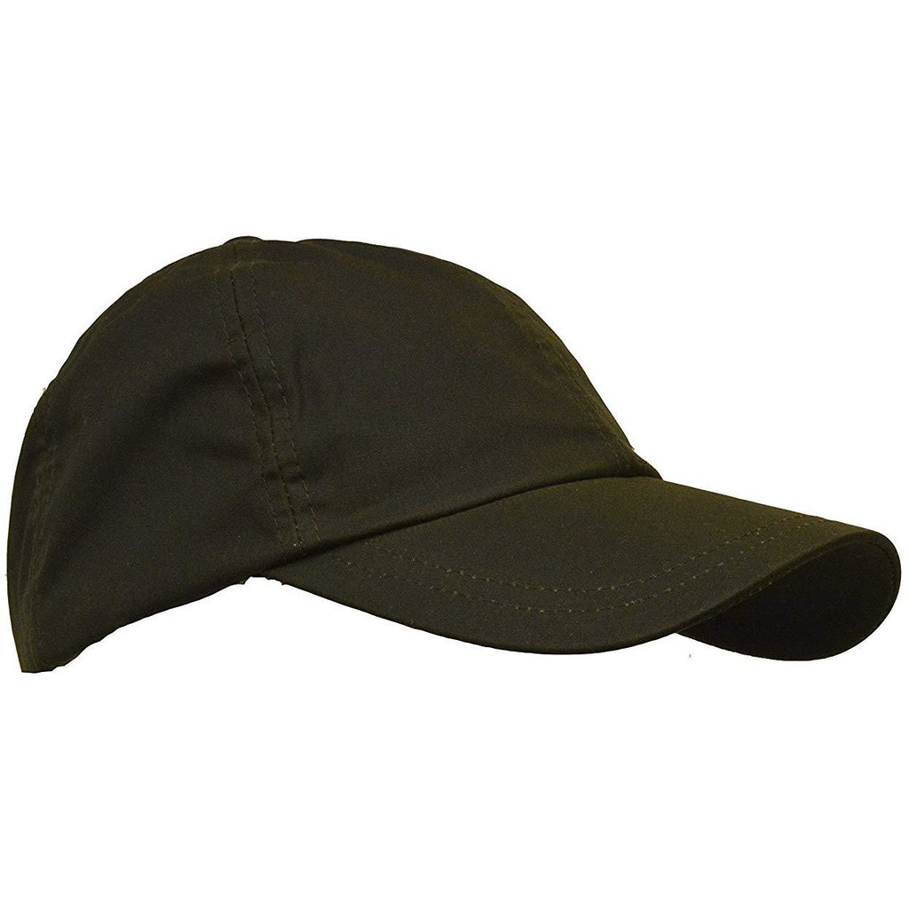Walker & Hawkes Unisex Waterproof Olive Waxed Cotton Baseball Cap
