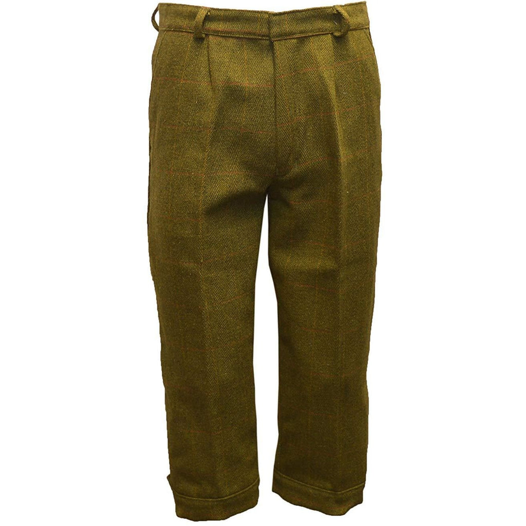 Walker & Hawkes Men's Dark Sage Tweed Shooting Breeks / Plus Fours
