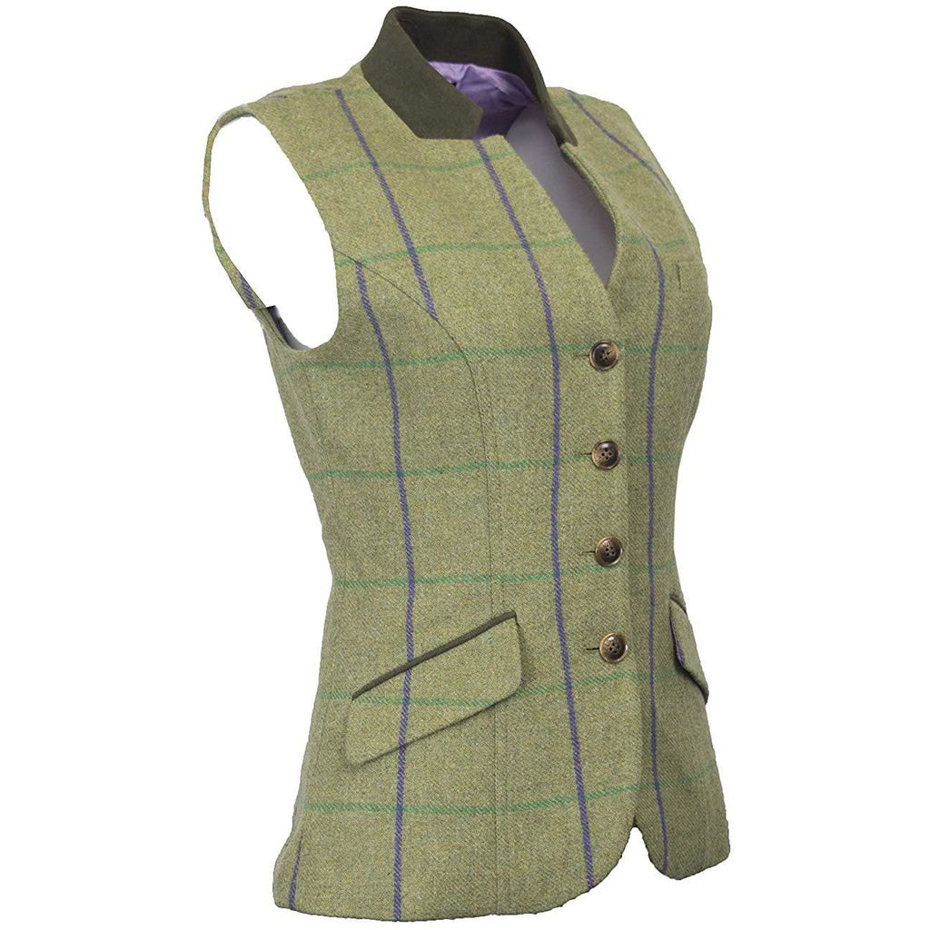Walker & Hawkes Ladies' Purple Stripe Margate Tweed Gilet / Waistcoat-Equestrian Co.