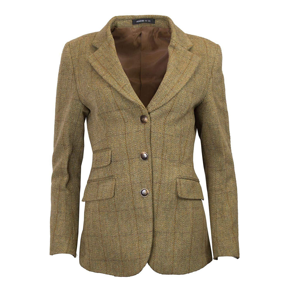 Walker & Hawkes Women's Mayland Light Sage Tweed Blazer / Jacket
