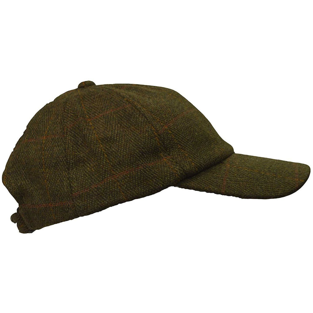 Walker & Hawkes Unisex Dark Sage Classic Derby Tweed Baseball Cap